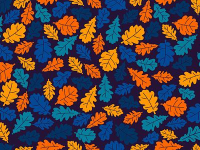 Oak Leaf Pattern fall defoliation decorative ornament seamless pattern vector oak leaf oak tree oakley season botany foliage herb ecology green plant nature leaf oak