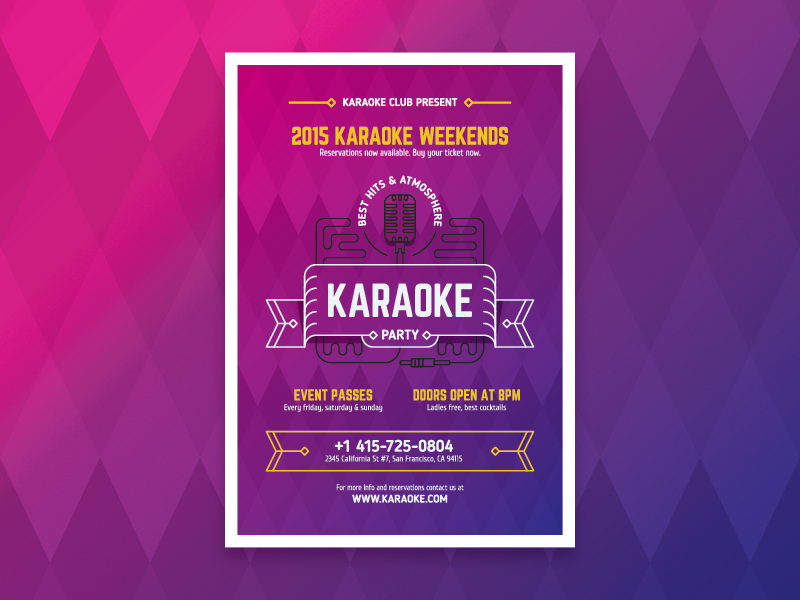 Karaoke party poster by EverydayTemplate - Dribbble