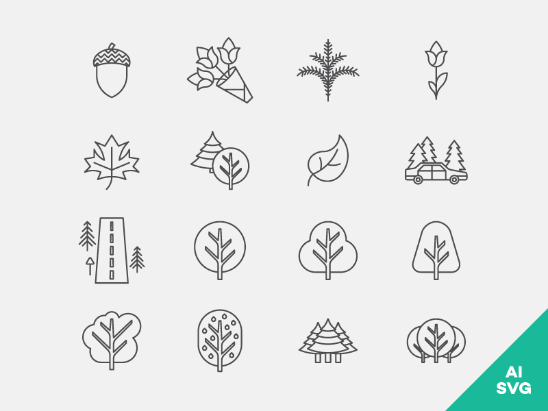 Nature Icons Freebie allicons eps ai svg pack set icons vector freebie free outdoors nature