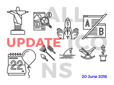 Allicons — 1st Update  edt outline allicons bundle icons vector update