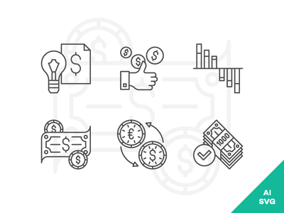 Free / Business, Marketing and Finance icons set