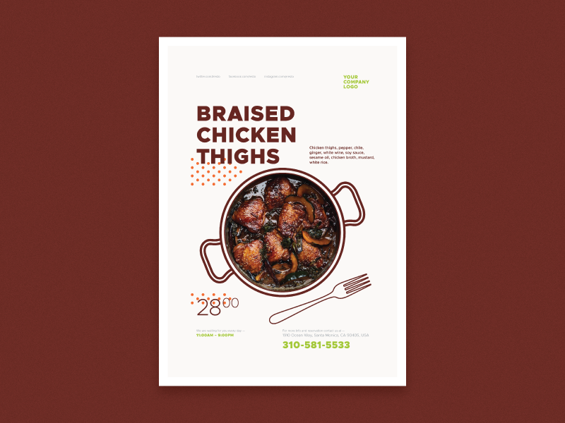 dishes promo poster templates by everydaytemplate dribbble dribbble
