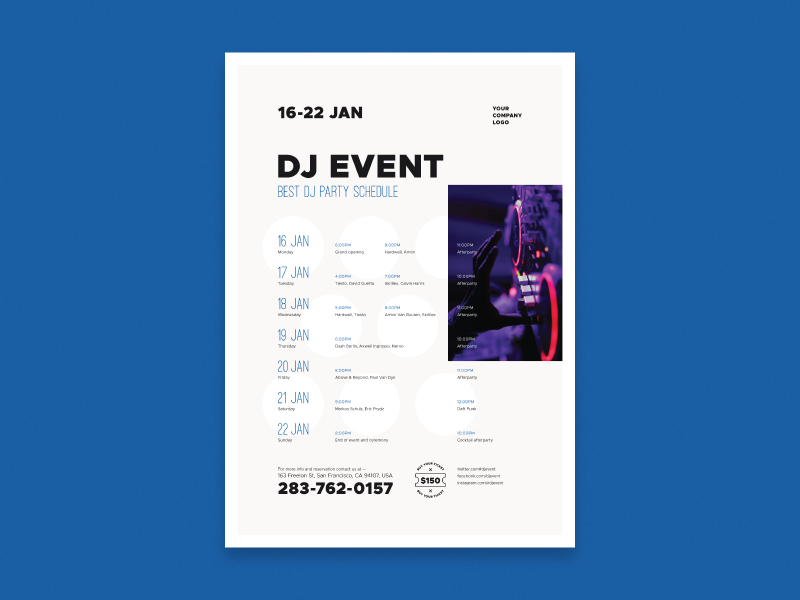 event schedule poster vol 02 by everydaytemplate dribbble dribbble