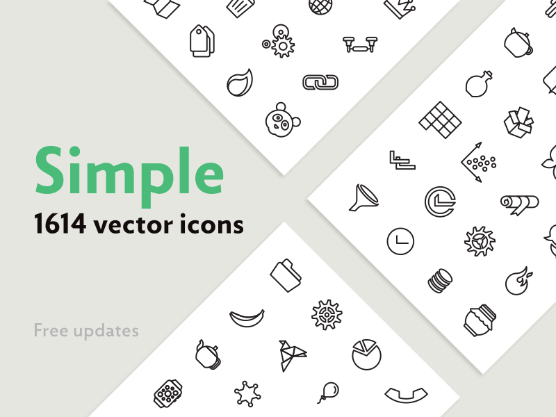 Simple bundle icons preview  dribbble  800x600px