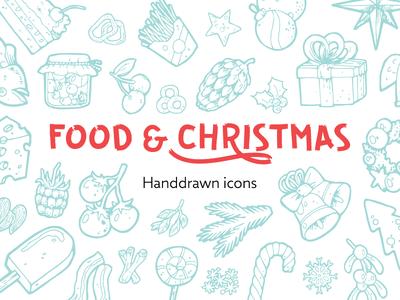 212 Food and Christmas Handdrawn