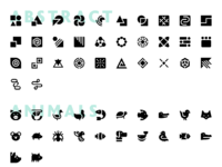 Basic solid icons preview cm 1160x19775px