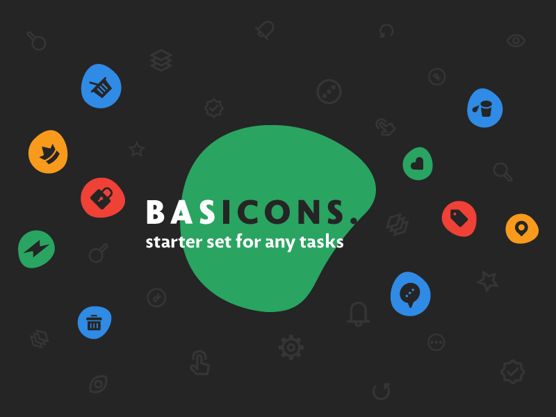 Basicons — 3000 Line and Solid Icons solid glyphs line interface app design ui iconjar vector icons basic basicons