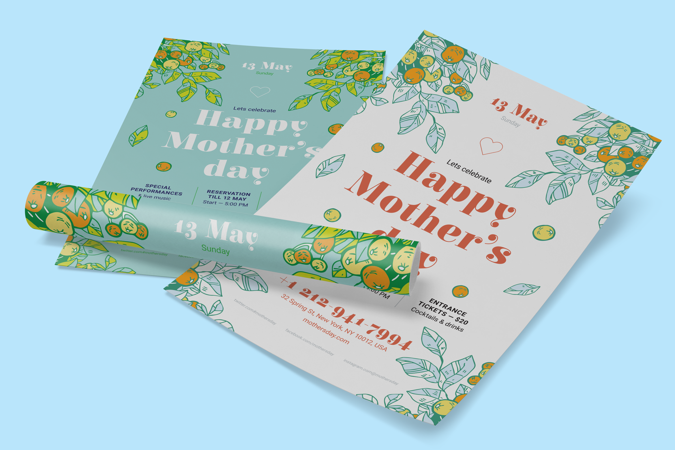 Mothers day poster preview  ee  2340x1560px