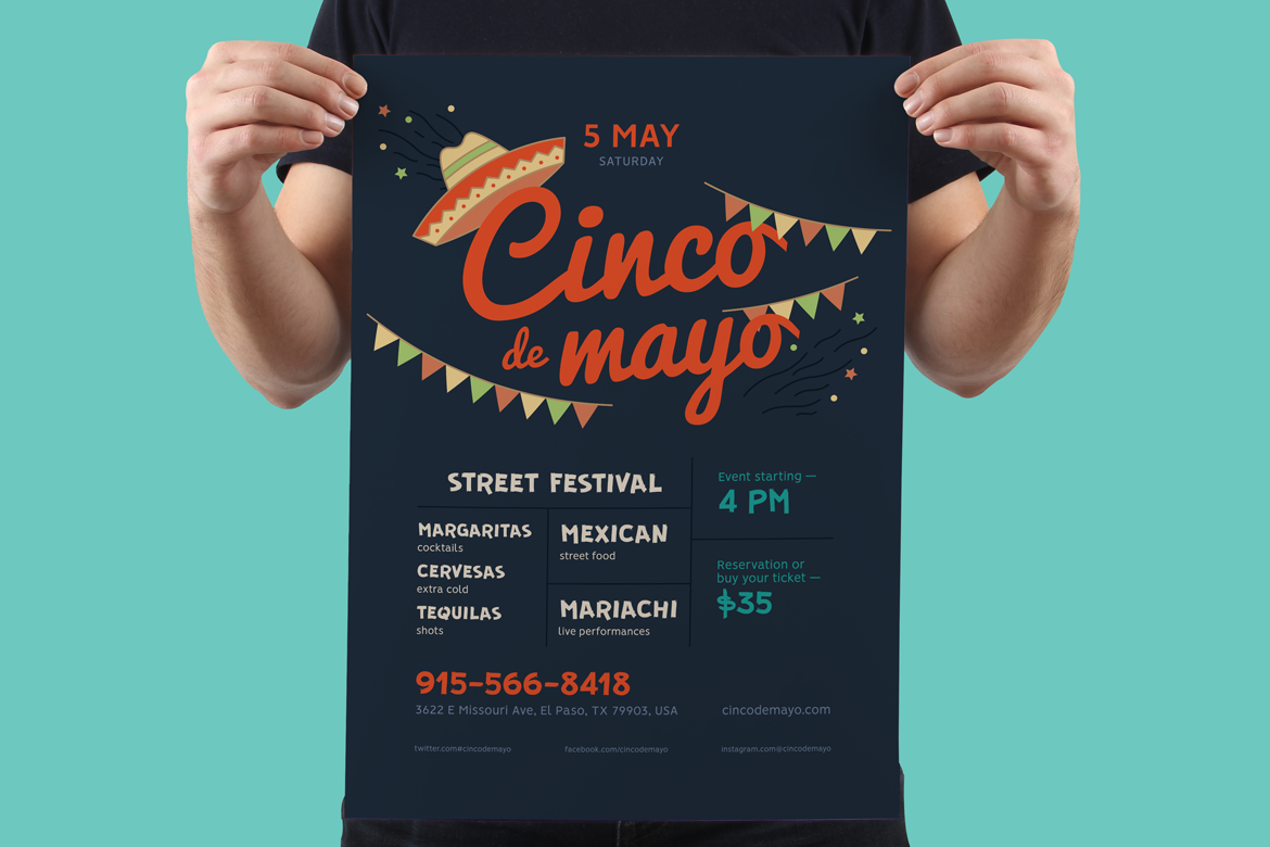 Cinco de mayo poster preview  ee  1170x780px 03