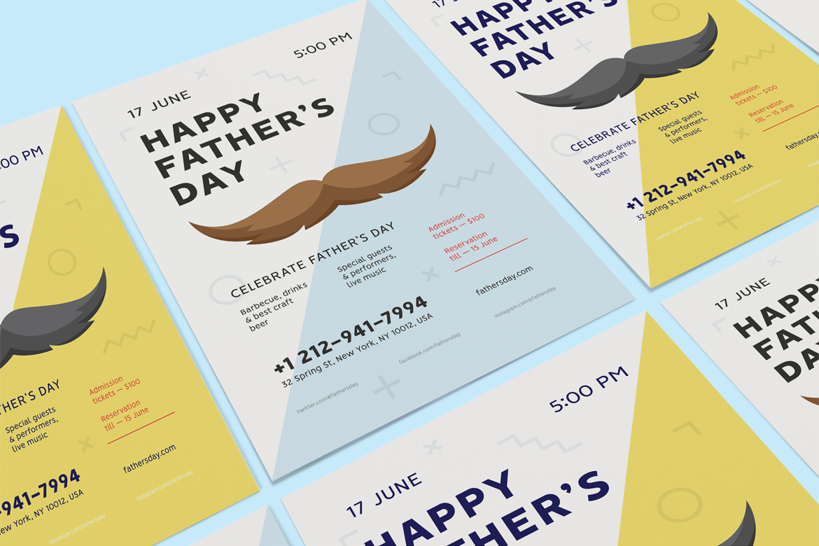 Fathers day poster preview  ee  1170x780px 01