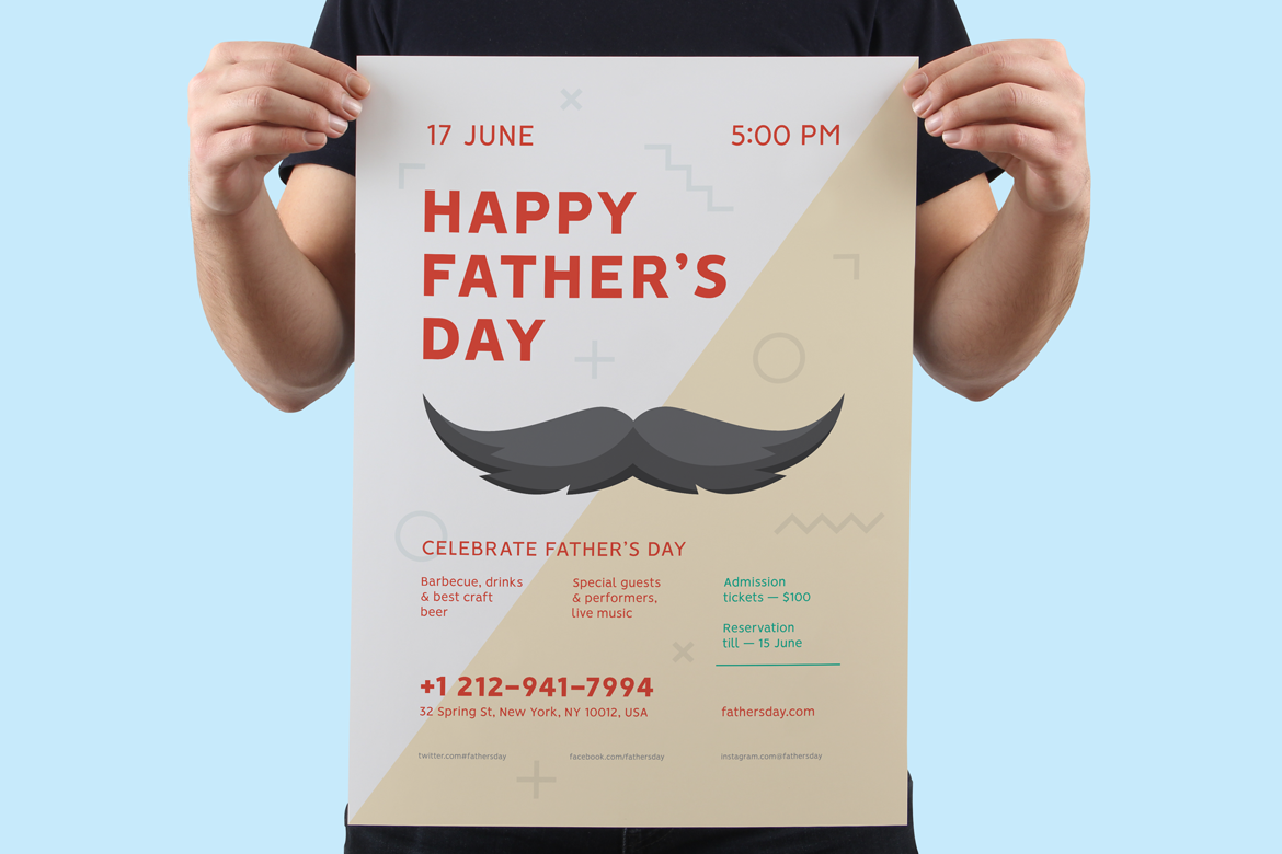 Fathers day poster preview  ee  1170x780px 03
