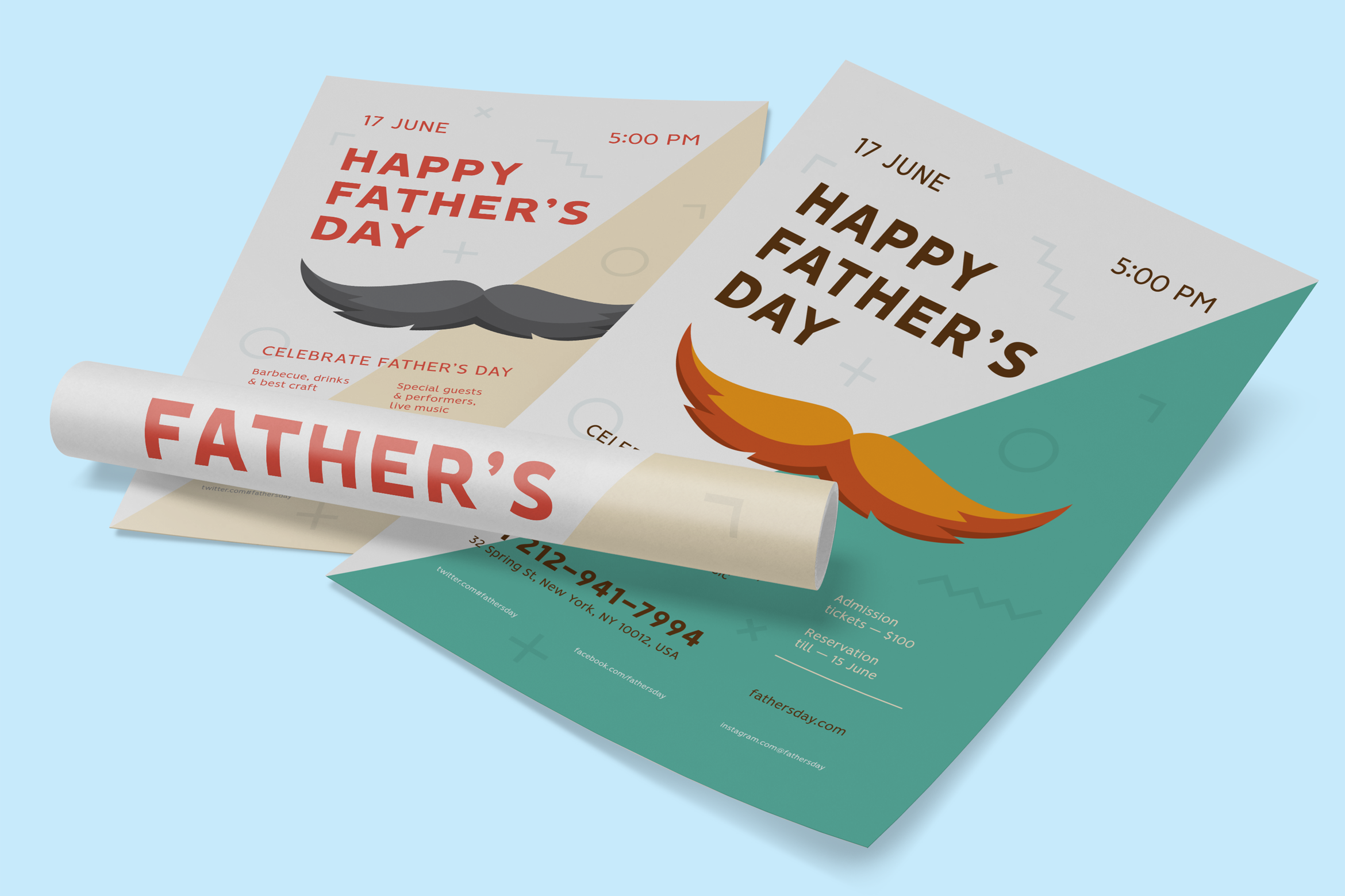 Fathers day poster preview  ee  2340x1560px