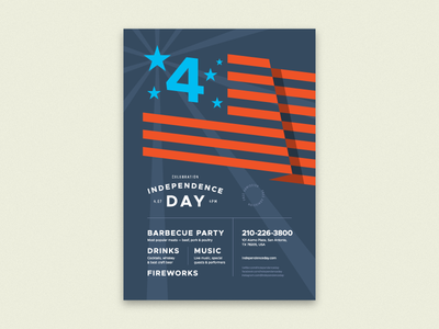 4th July Poster Template