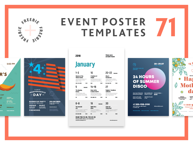 Poster bundle preview  dribbble  800x600px