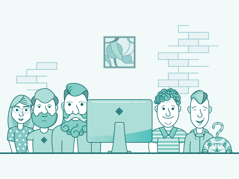 Team illustration preview  dribbble  800x600px