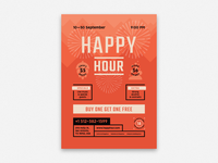 Happy Hour Beer Festival Poster