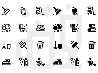 Basicons — Cleaning set room window toilet vacuum cleaner tools detergent bubbles washer shine washing vector clean basicons icons cleaning company cleaning service cleaning
