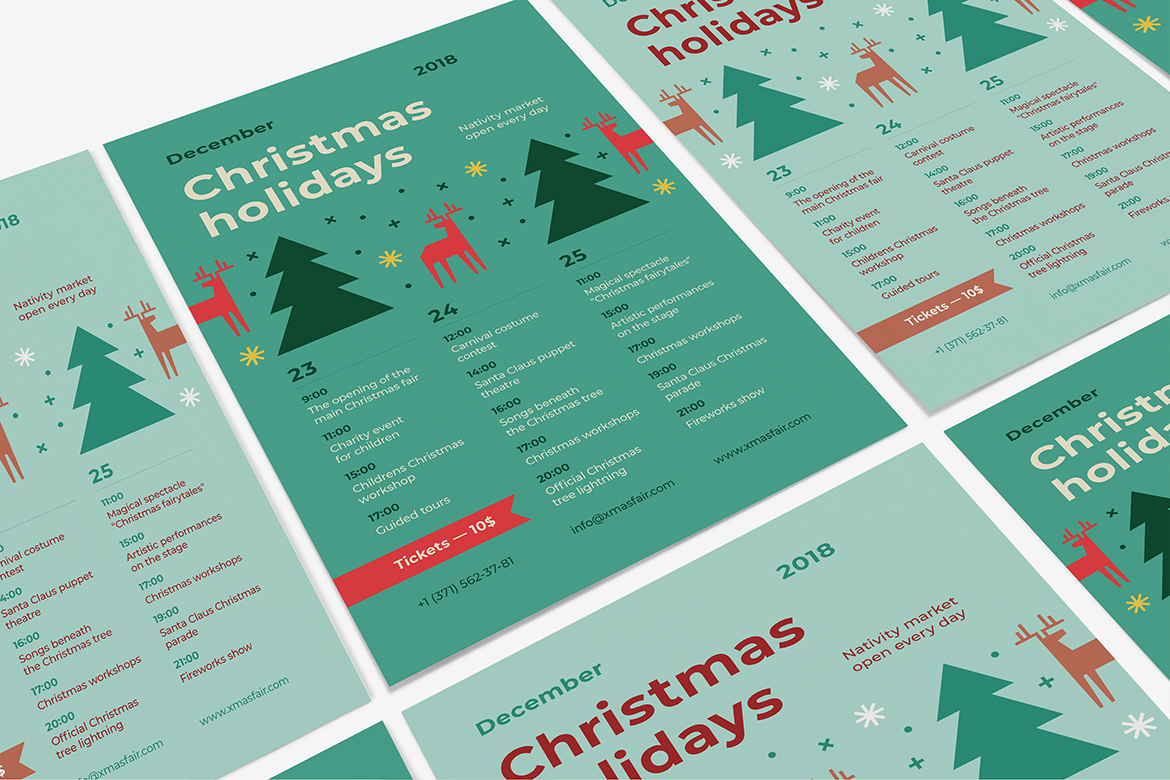 Christmas holidays poster preview  ee  1170x780px 05