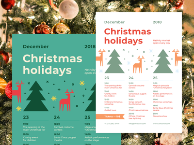 Christmas Schedule Poster Template