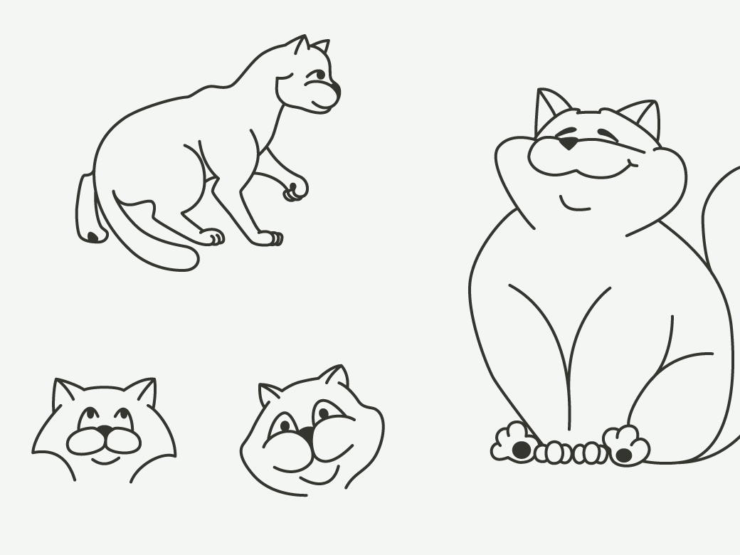 Cats illustration preview  ee  1170x780px 02
