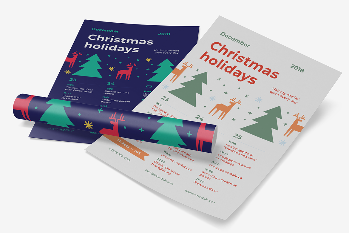 Christmas holidays poster preview  ee  1170x780px 04