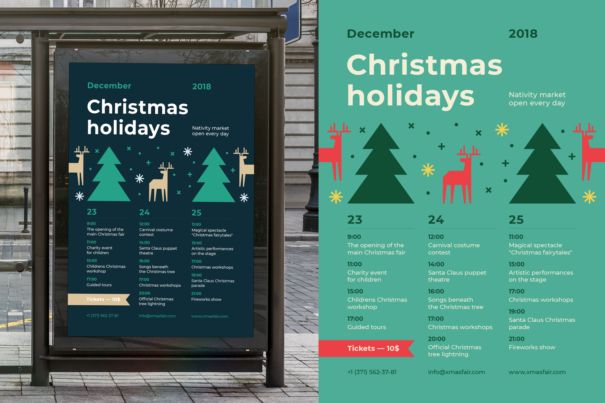 Christmas holidays poster preview  ee  2340x1560px 01