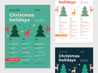 30% OFF, Christmas Schedule Poster Template