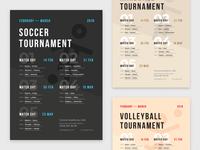 Sport Schedule Poster Template
