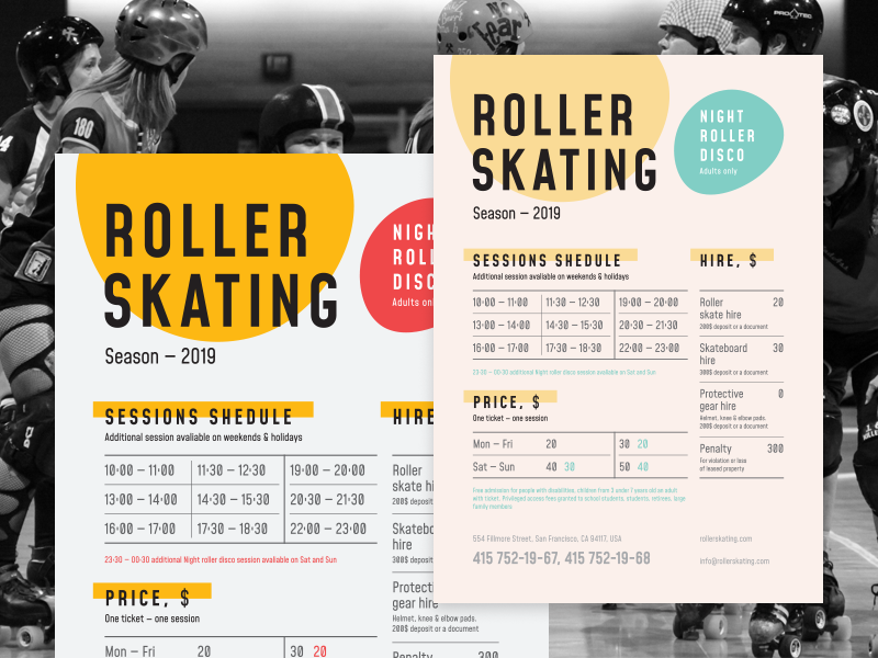 Roller schedule poster preview  dribbble  800x600px 02