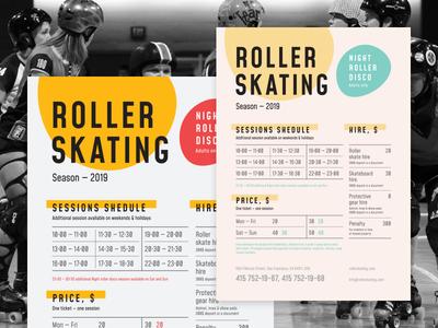 Roller Schedule Poster