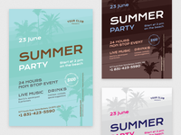 4th Summer Poster Template