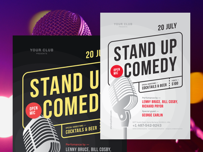 Stand-up Poster Template