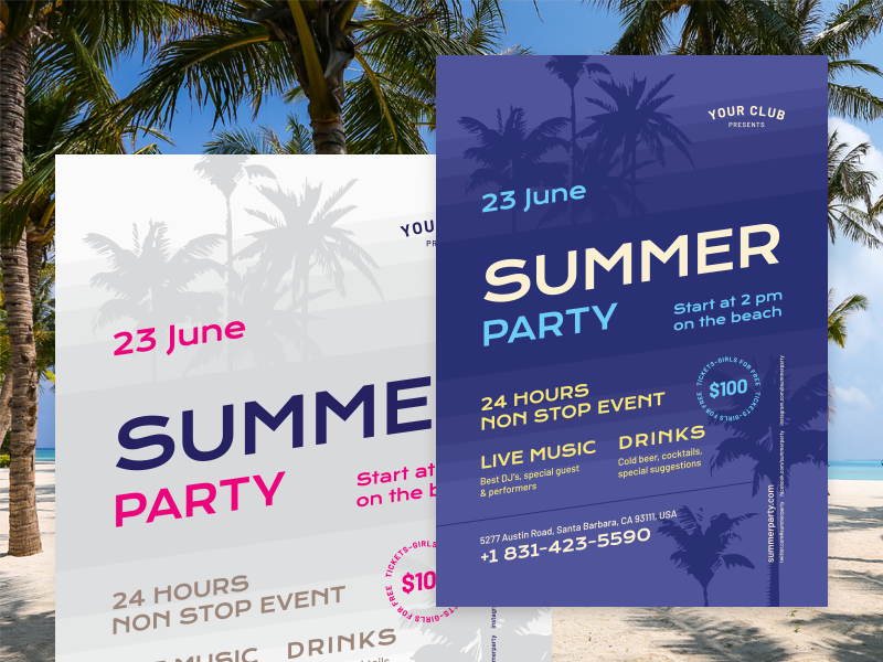 Summer poster vol 4 preview  dribbble  800x600px 02