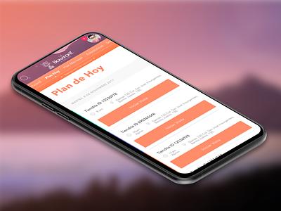 App Jaguar Plan de hoy auditory cx ux design app ui