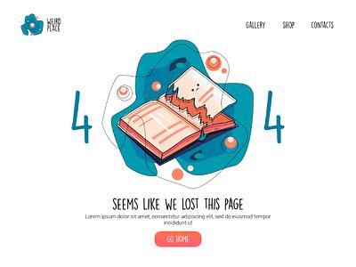 404 page, DailyUI challenge web design vector ui design minimal typography branding ux uiux book 008 dailyui 404 page 404 trends cute dashboard design ui illustration
