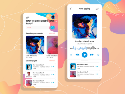 Music app design dashboard web design app vector trends misc player music app mobile app ux ui design simple minimal illustration dailyui