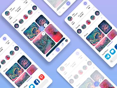 Social Share Button social media ui ux ui design ux ui illustration minimal mobile design mobile app interface share trends design 010 dailyui