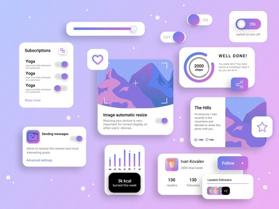On/Off Switch - Ui kit statistical components app flat branding web icon inspiration ui-inspiration minimal trends vector illustraion uiux ui ui kit 015 dailyui