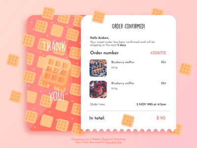 Email Receipt Design simple web design ux design email ui design e-commerce vector minimal 017 email receipt trends ui ux ux ui design pattern illustration
