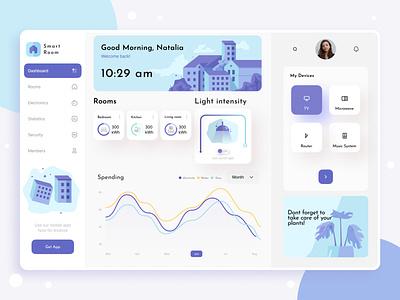 Smart Home Dashboard 021 uiux minimal user profile smarthome branding ui design inspiration typography app illustration dailyui ux dashboard ui trend design dashboard design dashboard