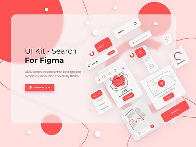 UI Kit - Search 022 webdesign web search bar search filters flat ui design ui kit uiux trends inspiration icon minimal ux ui illustration design dailyui