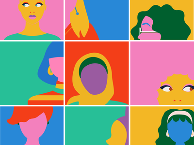 Women Diversity vector illustration flat illustrator design