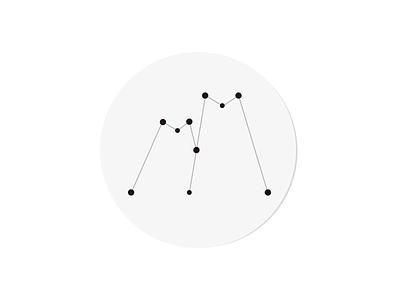 Constellation dots m constellation logo