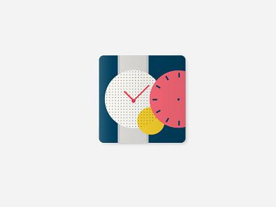Timespice icon mobile illustration app watchface icon