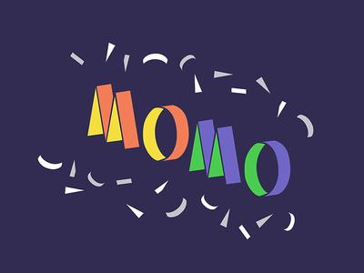 momomomo illustration typography