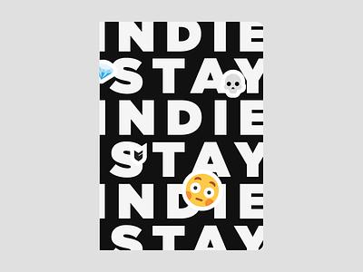 Stay Indie Sketchbook with Emoji Stickers big cartel stickers indie emoji sketchbook