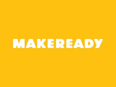 Makeready identity typography logo