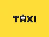 Taxi taxi simple illustration logo