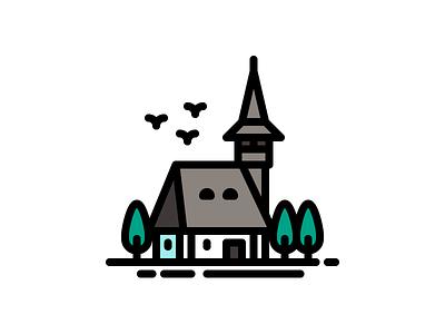 Maramures Architecture architecture romania maramures simple illustration icon