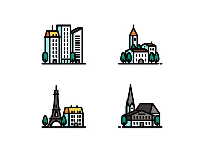 Buildings And Cities towers church austria tuscany italy france eiffel tower building